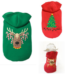 Wholesale Dog Cosplay - small dog Christmas clothes pet hooded clothes fleece apparel costume cute dog Pumpkin Cosplay Pet Party clothing for dog Cardigan PD033