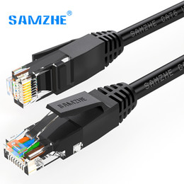 Wholesale Ps2 Dvi - SAMZHE Cat6 Ethernet Patch Cable - RJ45 Computer,PS2,PS3,XBox Networking LAN Cords 0.5 1 1.5 2 3 5 8 10 12 15 20 25 30 40 50 80m
