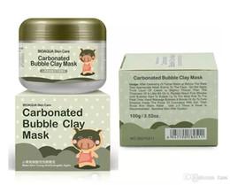 Wholesale Kawaii Mask - 500Pcs BIOAQUA Facial Mask Kawaii Black Pig Carbonated Bubble Clay Mask Winter Deep Cleaning Moisturizing Skin Care