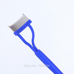 Wholesale Used Shaper - Wholesale-LASH COMB Pink plastic handle Stainless steel needle eyelash comb good use Eyebrow Shaper