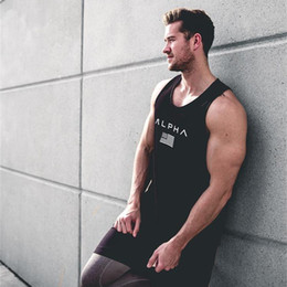 Wholesale Xxl Mens Tank Top - Summer 2017 Men tank top gyms Fitness bodybuilding Hooded Tank Top fashion mens Crossfit clothing Loose breathable sleeveless shirts Vest