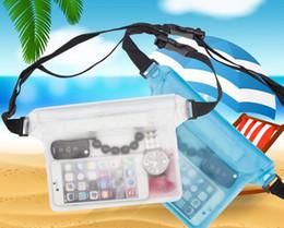 Cintura di vita della macchina fotografica online-2017 Waterproof Dry Waist Bag Pouch Wallet Phone Camera Underwater Swim Kayak Boating Shoulder Waist Belt Bag Case Pack