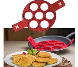 Wholesale egg moulds - Flippin Fantastic Fast Easy Way to Make Perfect Pancakes Egg Ring Maker Nonstick Pancake Maker Mold Kitchen Baking Moulds G021