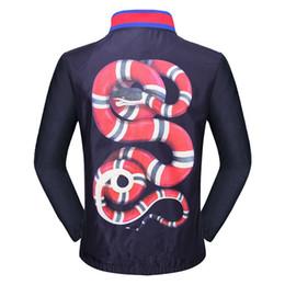 Wholesale Men Snake Skin - New Design jacket Fashion Casual snake Print brand G Autumn Sunproof Windproof Waterproof Men Women Luxury Zipper Anti Sports Skin Coat