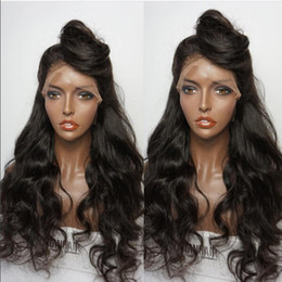 body wavy brazilian glueless lace wig Coupons - 8A Glueless Lace Front Human Hair Wigs For Black Women Body Wave Brazilian Full Lace Wigs With Baby Hair Wavy Lace Front Wig
