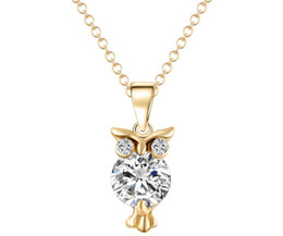 Wholesale Europe Owl - Owl Zircon Necklace Europe and the United States fashion necklace fast selling explosive necklace CZ pendant wholesale free shipping