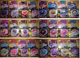 transporte de beyblade Desconto 24 modelos de 360 pçs / lote Beyblade Metal Fusão Beyblade Pião de fiação 4D L-DERAGO DESTRUÍDO BIG BANG PEGASIS FANTASMA ORION DHL GRÁTIS