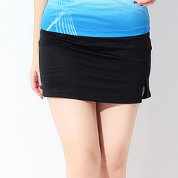 Wholesale women s group - Wholesale- New sport skirt breathable quick-dry badminton short group tennis group tennis skirt straight skirt Free shipping
