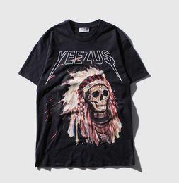 Wholesale Good Rocks - Hot Summer Fashion 3D Design Rock Band Skulls Chief Printing Short Sleeve Men's T-shirt Men Good Quality Men T-shirt