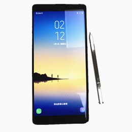 Wholesale Note Inches Single Sim - Best quality goophone note 8 6.3 inch Edge Curved with WIFI GPS Smartphone Quad Core 1G 8G shown 4G Lte Unlocked phones