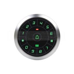 Кнопки дверного звонка онлайн-DIYSECUR 125 кГц Rfid кард-ридер дверь контроллер доступа система пароль клавиатура + кнопка дверного звонка 8000 пользователей круглый металлический корпус