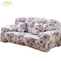 Wholesale Slipcover Sofas - Free shipping elastic sofa cover universal slipcover polyester spandex One Two Three Four Seater Couch Cover drop shipping