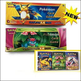 Wholesale Toy Papers Flash - Pokémon go Trading Cards Games XY break point Poke Monsters Flash Fire Games Toys Cards for Children 408 pcs box Free DHL shipping