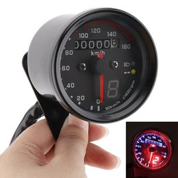 Wholesale Gear Display - New Arrival! Refit LED Backlight with Gear Display Kilometer Odometer Table for Motorcycle 12V 0~160km h MOT_109