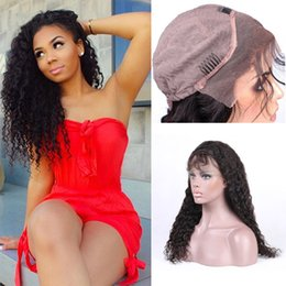Wholesale Swiss Lace Indian Remy Closure - Brazilian Human Hair Wigs For Black Women Deep Wave Lace Frontal Remy Hair With Natural Hairline Crochet hair Closure Free Shipping