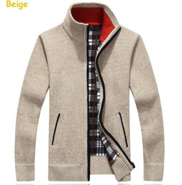 Wholesale Turtleneck Cardigan Sweater Men - Turtleneck Full Zip Cardigan Mens Jumpers Brand Christmas Men's Clothing Winter Thick Coat Cashmere Sweater Men Brand Knitted