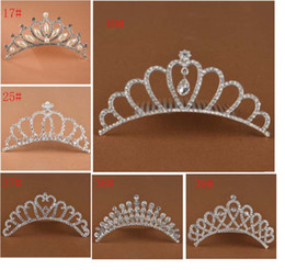 Wholesale crown combs - Show princess Crown Princess combs Mini Twinkle Rhinestone Diamante Bridal Princess Crown Hair Comb Hair Clip Tuck Tiara Party Wedding