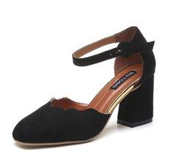 Wholesale Gladiator Fringe Sandals - new Woman Shoes 2017 summer Tassel Flock women sandals fringe sandal heels Thick high heels sandals sandalias de salto alto