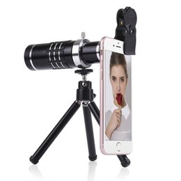 Wholesale Zooming Camera Mobile - Universal Clip On 18X Telephoto Lens Mobile Phone Optical Zoom Telescope Camera For iPhone Sumgung HTC Asus JT11