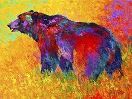 Giclee El oso negro en el viento estudio de color pintura al óleo artes y lienzo decoración de la pared arte Pintura al óleo sobre lienzo Longhorn steer MRR078 desde fabricantes