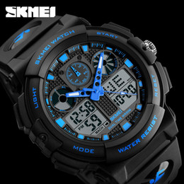 Wholesale Double Chronograph Watch Men - SKMEI Men Sports Watches Digital Double Time Chronograph Watch Watwrproof Week Display Wristwatches Relogio Masculino 1270