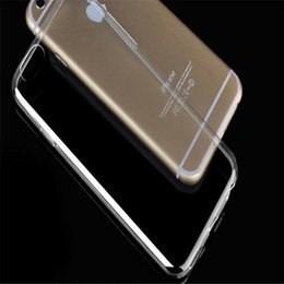 Wholesale Iphone 5g Tpu - 0.3mm Soft TPU Clear Cover For iPhone 4S 5S 5G 5SE 6S 6 Plus 7S 7 Plus Samsung S8 Silicone Thin Slim Transparent Plastic Skin Cellphone Case