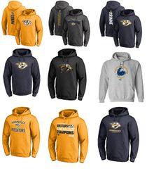 Wholesale Long Hoodies For Men - 2017 NHL Mike Fisher Pekka Rinne PK Subban Filip Forsberg Nashville Predators Sweatshirts & Hoodies for man women kid
