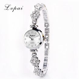 Wholesale Imitation Wristwatches - Wholesale- Lvpai Bracelet Watch For Women Ladies Fashion Quartz-watch Female Imitation Diamond Wristwatch Watches For Women Female Watch