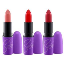 Vente de collections en Ligne-Selena Collection Matte Rouge à lèvres Selena Lipstick Mode Maquillage Imperméable Belle Cosmétiques 12 Couleur Vente Chaude Livraison Gratuite