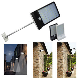 Wholesale Wall Mount Motion Detectors - 36LED Solar Light With Mounting Pole Outdoor Motion Sensor Detector Lamp Wall Sconces Lighting for Garden Wall Lamps Lights