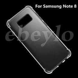 Wholesale Galaxy Skin Back Cover Cases - For Samsung Galaxy Note 8 Case Transparent Crystal Shockproof Clear Soft TPU Gel Skin Silicon Back Cover