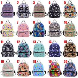 Wholesale Diamond Backpack - 20 Design Backpack canvas bag fashion Women Bags cartoon children school bags Backpack small canvas bag