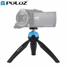 Wholesale Mini Video Tripod - PULUZ Portable Pocket Mini Tripod Mount with 360 Degree Rotation Panoramic Tripod for Sports camera Smartphones DSLR DV Video camera