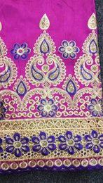 Wholesale Swiss Cotton Laces - 100% Cotton High Quality African George Fabric, African Swiss George Lace Fabric For Nigerian Wedding free shipping