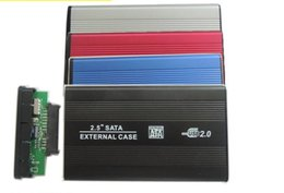 2019 lenovo caso alumínio Top qualidade USB 2.0 SATA disco rígido HDD caso gabinete DHL Fedex frete grátis