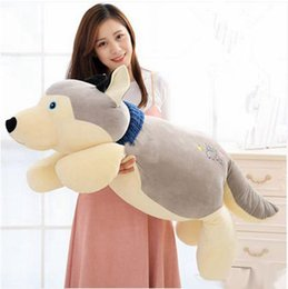 Wholesale Lying Dog Toys - Huge 110cm Cute Soft Animal Dog Plush Toy 43'' Big Cartoon Lying Dogs Pillow Kids Play Doll Baby Gift