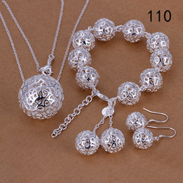 Wholesale Mixed Fashion Earrings Bohemian - same price mixed style women's sterling silver jewelry sets,fashion 925 silver Necklace Bracelet Earring jewelry set GTS50