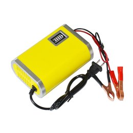 Wholesale Charger Machine - Wholesale-Motorcycle Car Auto 12V 6A Battery Charger Intelligent Charging Machine Yellow@012