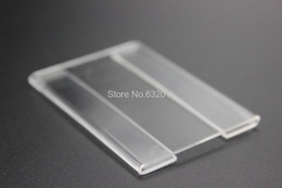 Wholesale Acrylic Price Tags - 15x10cm Acrylic T1.2mm Plastic Sign Price Tag Label Display Paper Promotion Name Card Holders Wall Stick Type 10pcs label frame