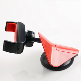 Wholesale Ipad Rotatable - Newest car holder Universal 360 Degree Rotatable Suction Cup Mount Car Windshield Holder Stand For Cell Phone iPhone iPad 100pcs lot