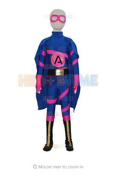 Wholesale Child Catsuit - (AL406) Children New eyes Deadpool Zentai Suit Superhero Costume Kids Cosplay Lycra And Spandex Halloween Costume