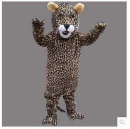 Wholesale Leopard Costume Cheap - Small leopard mascot costume cheap high quality carnival party Fancy plush walking black Panther mascot adult