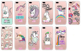 Wholesale Zebra Iphone Case Wholesale - Unicorn Zebra High heels Turtle Soft TPU Case For Iphone 7 Plus 6 6S SE 5 5S Galaxy S8 Plus s7 edge Cartoon Cute Silicone Clear Cover Skin
