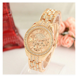 Wholesale Michael Watch Women - Fashion Watches michael Quartz Watch Casual Full Steel Dial Style woman All over the sky stars Crystal Diamond Rome Word Dial Style Watches