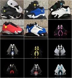 Wholesale White Winter Boots Girls - Retro XIV 14 low Laney Indiglo Kids Basketball Shoes Childrens Shoes Vivid Green 14s Sneakers Shoes fashion trainers for boys girls