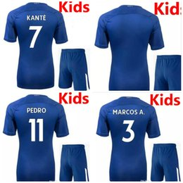 Wholesale Chelsea Orange - top quality new 2018 Chelsea soccer jersey home bule kids kit 17 18 HAZARD KANTE DIEGO COSTA FABREGAS WILLIAN PEDRO football shirt