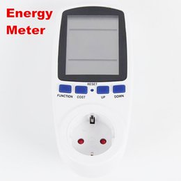 Wholesale Plug Power Monitor - new arrive EU Plug Electricity Power Energy Watt Voltage Amps Current Meter Analyzer with Usage Monitor