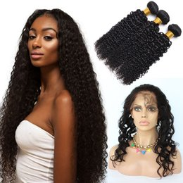 Wholesale Prices Deep Wave - 360 Lace Frontal With Bundle Indian Kinky Curly 360 Lace Virgin Hair Deep Wave With Closure 360 Frontal With Bundles Wholesale Price