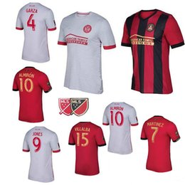 Wholesale United Soccer Shirt - Thai quality 2017 Atlanta United red home soccer jersey 17 18 GARZA JONES VILLALBA MCCANN MARTINEZ ALMIRON away white football shirts