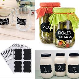 Wholesale Beverage Stickers - Wholesale- Useful 40Pcs Waterproof Jars Blackboard Bottle Stickers Wedding Home Kitchen Chalkboard Lables Tags Multi Size Bottle Sticker